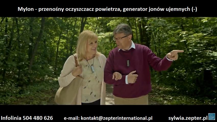 Myion Przenośny oczyszczacz powietrza firmy Zepter - Potężny generator jonów ujemnych