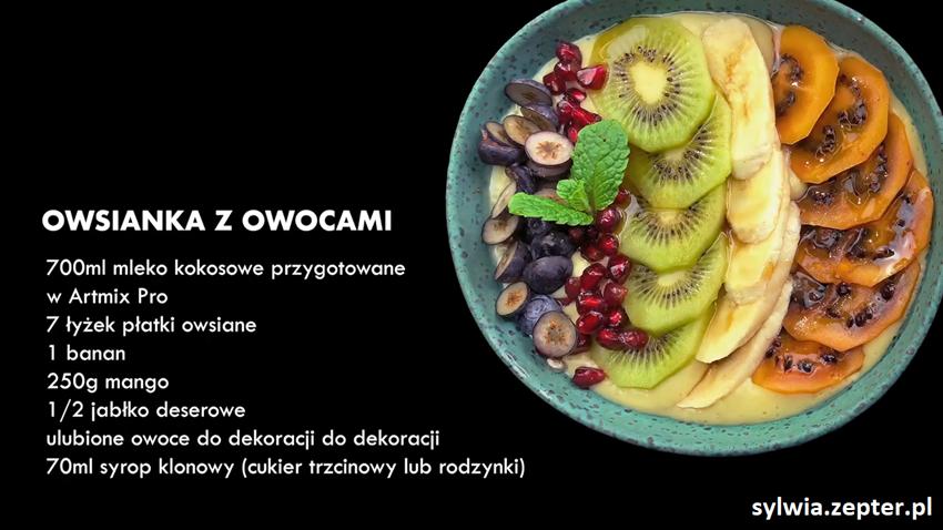 Owsianka przepis z ArtMix PRO