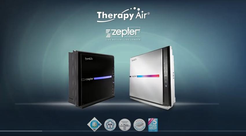 Therapy Air iOn oczyszczacz powietrza. Certyfikowany do eliminowania wirusów, bakterii, alergenów
